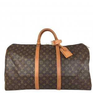 Louis Vuitton Keepall 55 Monogram Canvas Tasche Reisetasche Weekender