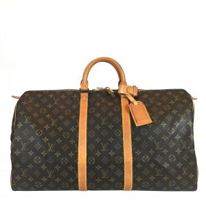 LOUIS VUITTON KEEPALL 55 REISETASCHE AUS MONOGRAM CANVAS