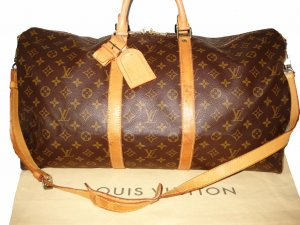 LOUIS VUITTON KEEPALL 55 REISETASCHE TRAVEL BAG LV MONOGRAM CANVAS NP: 1300 EUR!