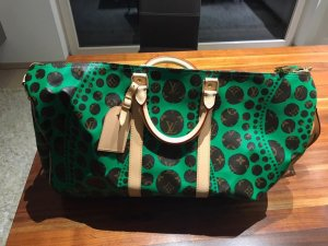 Louis Vuitton Borsa da weekend verde-marrone Pelle