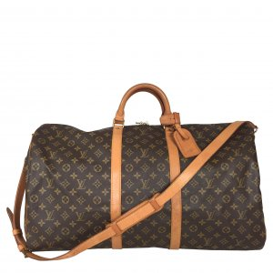 Louis Vuitton Keepall 60 Monogram Canvas Reisetasche Tasche Schulterriemen