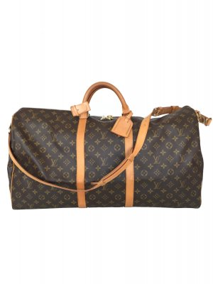 LOUIS VUITTON KEEPALL 60 REISETASCHE AUS MONOGRAM CANVAS MIT SCHULTERRIEMEN