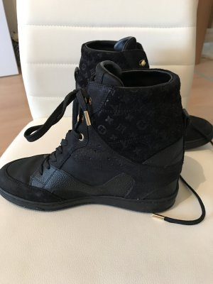 Louis Vuitton Zapatilla tipo cuña negro-color oro