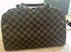 Louis Vuitton Carry Bag brown leather