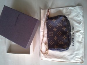 Louis Vuitton Pochette dark brown-gold-colored synthetic material
