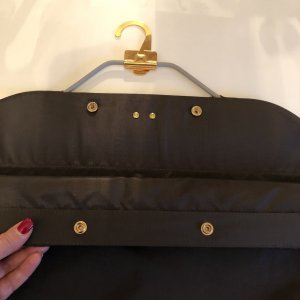 Louis Vuitton Bolso de tela marrón oscuro-color oro