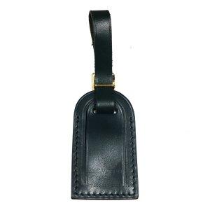 Louis Vuitton kleiner Adressanhänger Leder Farbe Dunkelgrün Gold