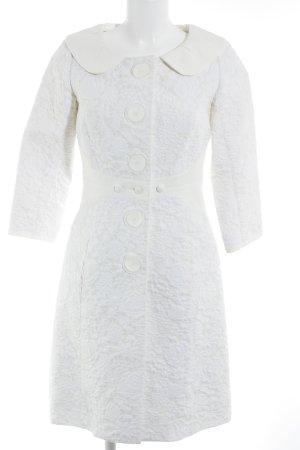 Louis Vuitton Tailleur crème-blanc cassé motif de fleur élégant