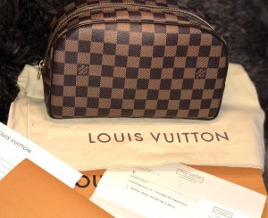 Louis Vuitton Enveloptas zwart bruin-donkerbruin