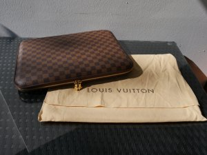 Louis Vuitton Sacoche d'ordinateur brun autre