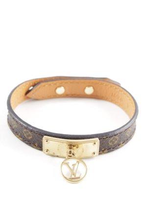 Louis Vuitton Leather Bracelet black brown-light brown elegant