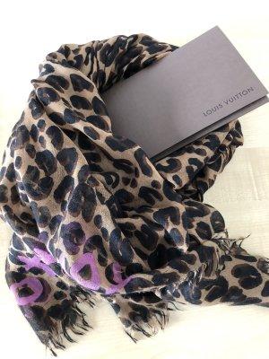 LOUIS VUITTON Leopard Schal mit Rechnung