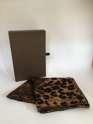 Louis Vuitton Leopard und Monogram Carré Tuch OVP wNeu Seide