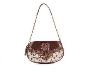 Louis Vuitton Sac porté épaule brun reptiles