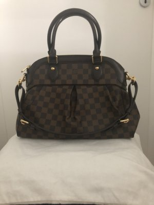 Louis Vuitton Sac brun noir cuir