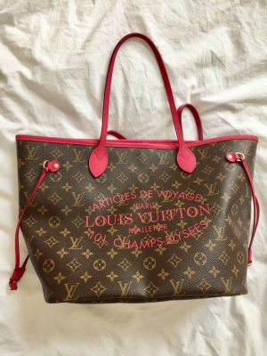 Louis Vuitton Limited Edition Monogramm Canvas Neverfull MM Pink
