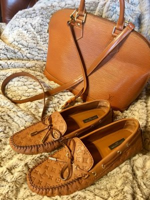 Louis Vuitton Loafers, Mokassins, Farbe Cognac, Gr. 38 neuwertig