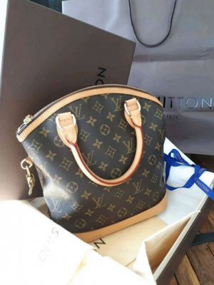 Louis Vuitton Sac à main brun noir-beige
