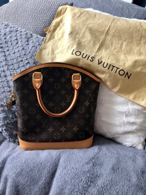 Louis Vuitton Sac à main brun noir cuir