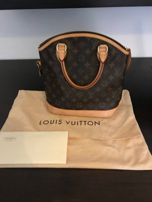 Louis Vuitton Borsetta color carne-marrone