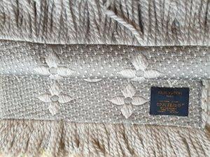 Louis Vuitton Logomania Schal Perlgrau mit Schönheitsfehlern