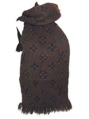 Louis Vuitton Logomania Schal Wolle Seide Farbe Braun