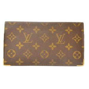 Louis Vuitton Portefeuille brun fibre textile