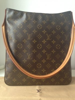 Louis Vuitton Tas brons-bruin Leer