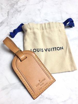 Louis Vuitton Luggage Tag Adressanhänger Vachetta Leder Original Adress Anhänger