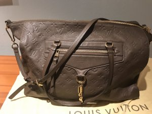 Louis Vuitton Lumineuse Monogram Empreinte Leder Tasche in Taupe / Ombre