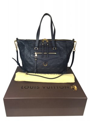 Louis Vuitton Lumineuse PM Monogram Empreinte Leder Infini Blau Handtasche