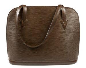 Louis Vuitton Sac à main taupe-brun cuir
