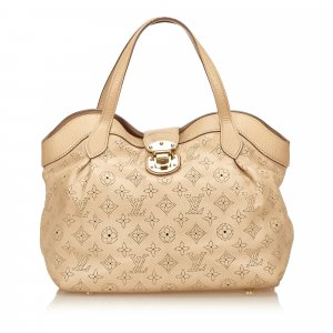 Louis Vuitton Shoulder Bag beige leather