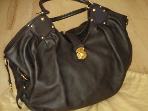 Louis Vuitton Bolso tipo marsupio marrón-negro-color oro