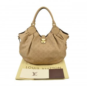 Louis Vuitton Shoulder Bag camel-beige leather
