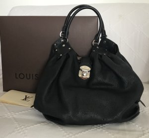 Louis Vuitton Bolsa Hobo negro-color plata