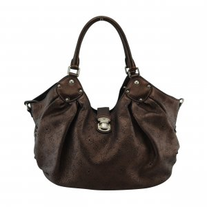 Louis Vuitton Mahina Leather Bag L Mordore (M95766)
