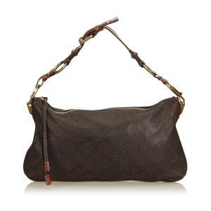 Louis Vuitton Handtas donkerbruin Leer