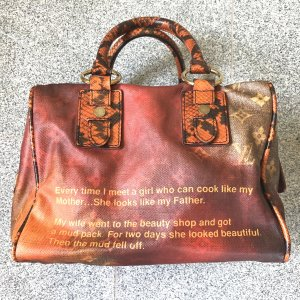 Louis Vuitton Frame Bag dark orange linen