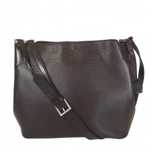Louis Vuitton Handbag dark brown-silver-colored leather