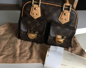 Louis Vuitton Sac à main brun-doré cuir
