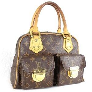 Louis Vuitton Sac à main bronze-brun sable cuir