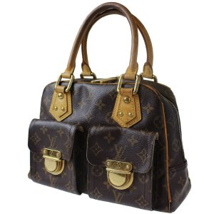 LOUIS VUITTON Manhattan PM Hand Bag Monogram Leather