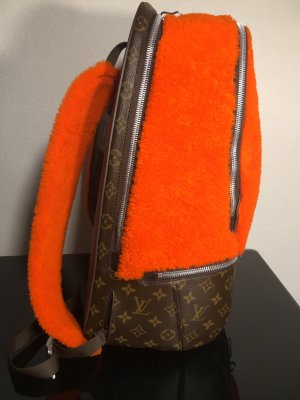 Louis Vuitton Laptop Backpack neon orange-bordeaux