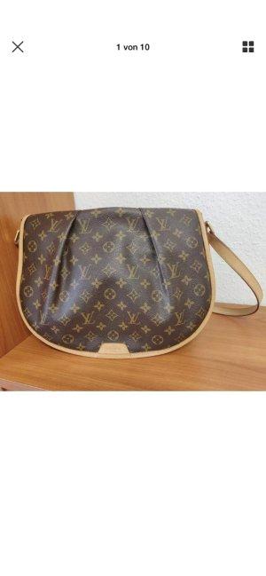 Louis Vuitton Sac porté épaule brun-crème