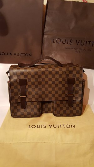 Louis Vuitton Laptoptas veelkleurig Leer