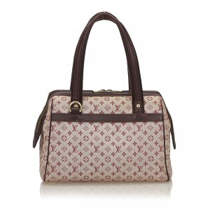Louis Vuitton Sac à main bordeau coton