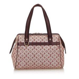 Louis Vuitton Sac porté épaule bordeau coton