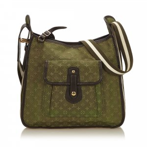 Louis Vuitton Sac porté épaule vert coton