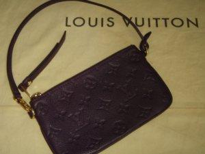 Louis Vuitton Sac de soirée brun pourpre-doré cuir